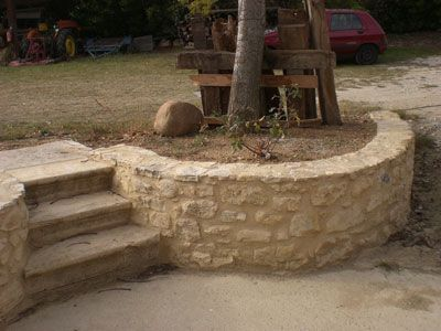 STB Grâne STB Montmeyran Marc Buffard Construction d'un escalier et muret en pierres